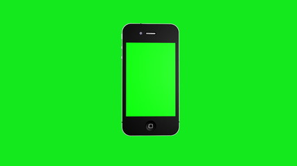 Phone on greenscreen