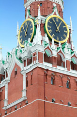 """Spasskaya"" tower of Moscow kremlin. Russia"