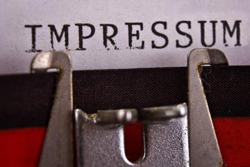 Impressum Schreibmaschine Makro