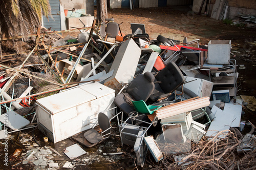 abandoned objects in an illegal dump