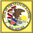 usa ststes county city illinois coat emblem seal