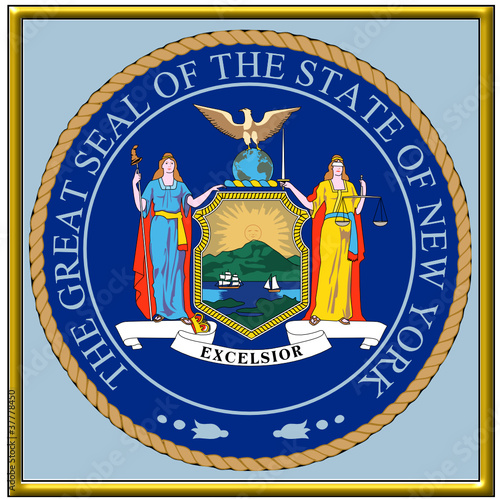 usa states county city new york coat seal emblem