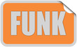 Sticker orange rund curl obenFUNK