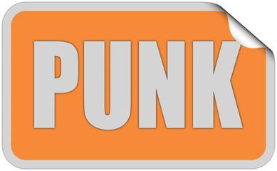 Sticker orange rund curl oben PUNK