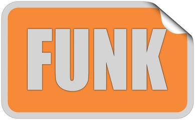 Sticker orange rund curl obenFUNK