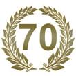 Lorbeerkranz geschlossen Gold - 70
