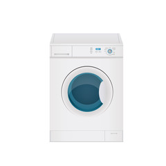 vektor illustration einer waschmaschine