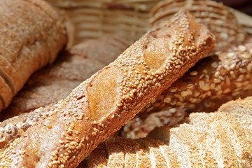 Bread and bakeries in basket