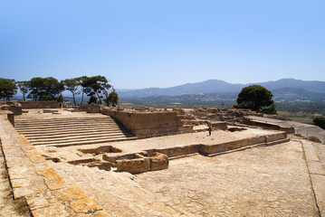 Archaelogical Site at Phaistos Palace Crete Greece