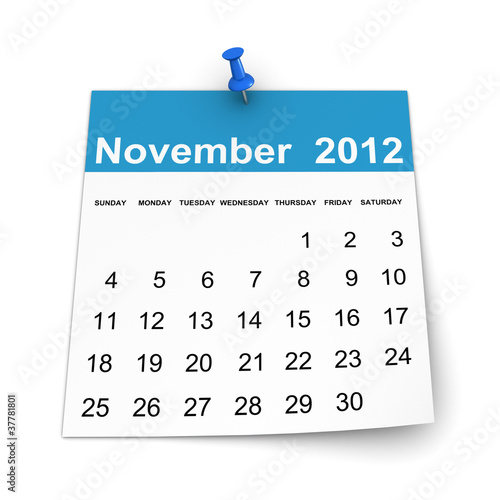 Calendar 2012 - November
