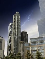 Storm over New York City Skyscrapers