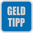 Sticker blau quadrat oc GELD TIPP