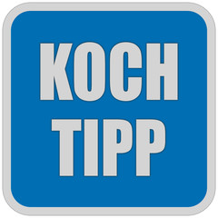 Sticker blau quadrat oc KOCH TIPP