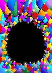 Coriandoli Sfondo Astratto-Confetti Colors Abstract Background
