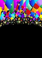 Coriandoli Carnevale Sfondo-Confetti Carnival Colors Background