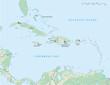 Karibische Inseln Landkarte