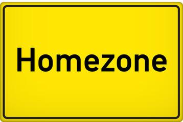 Schild Homezone