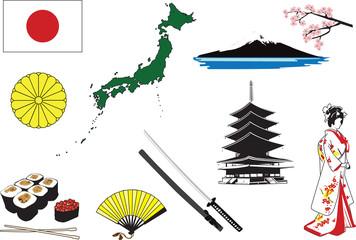 Miniatures representing characters in Japan