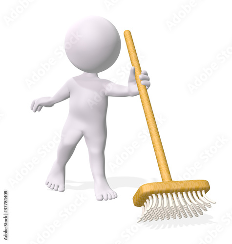 Man holding broom
