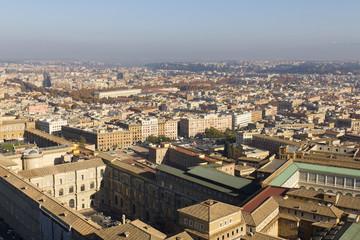 Panorama di Roma dalla Cupola di San Pietro in Vaticano
