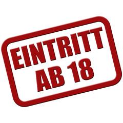 Stempel rot rel EINTRITT AB 18