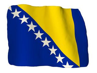 Bosnia erzegovina bandiera di plastilina