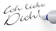 Stift Konzept - Ich liebe Dich!