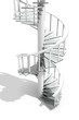 3D Corkscrew Stairs (white)