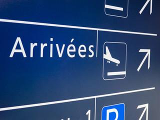 Arrivées à l'aéroport