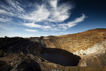 Copper mine open pit