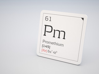 Promethium - element of the periodic table