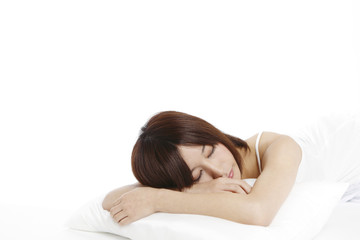 young woman sleeping.