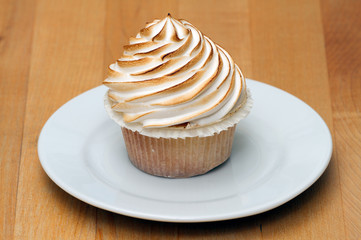 cupcake with baked meringue topping