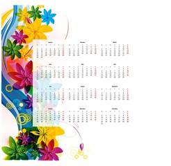 vector calendar 2012.