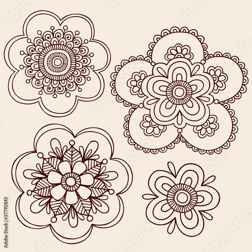 Henna Tattoo Flower Mandala Doodles