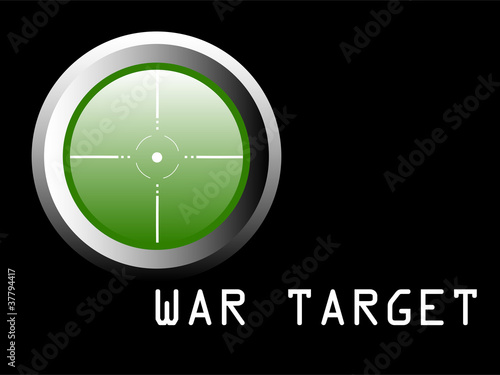 War target illustration - vector