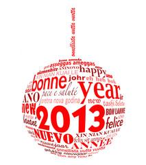 Voeux 2013 en forme de boule de noël