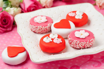 Sweet Valentine Petit Fours