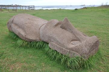 Rapa Nui Statue Born