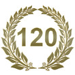 Lorbeerkranz geschlossen Gold - 120