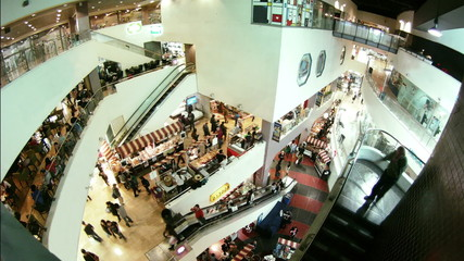 Shopping mall time lapse