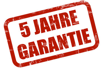Grunge Stempel rot 5 JAHRE GARANTIE
