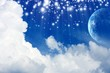 Planet in blue sky
