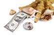 Доллар и раковина