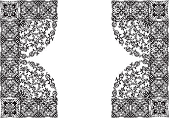 black on white decorated pattern
