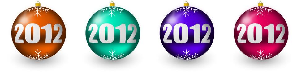 2012 colorful christmas balls buttons