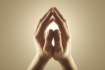 Magic energy in hands