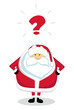 Vector Santa Claus with question mark