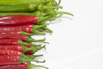 chilis green and red