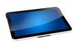 Tablet mit blauem Hintergrund